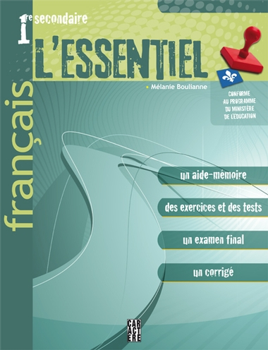 L'Essentiel - Français - 1<sup>re</sup> secondaire