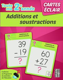 Photo of Cartes éclair - 2e année - Additions et soustractions