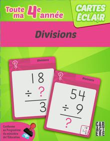 Photo of Cartes éclair - 4e année - Divisions