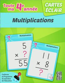 Photo of Cartes éclair - 4e année - Multiplications
